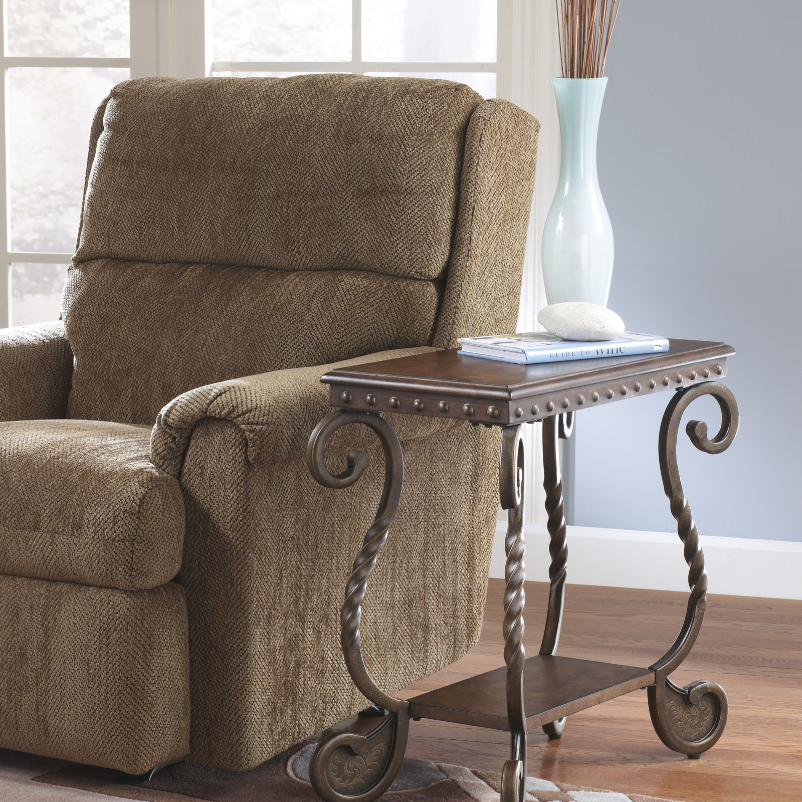 Signature Design Rafferty Chair Side End Table Harrington Home Furniture