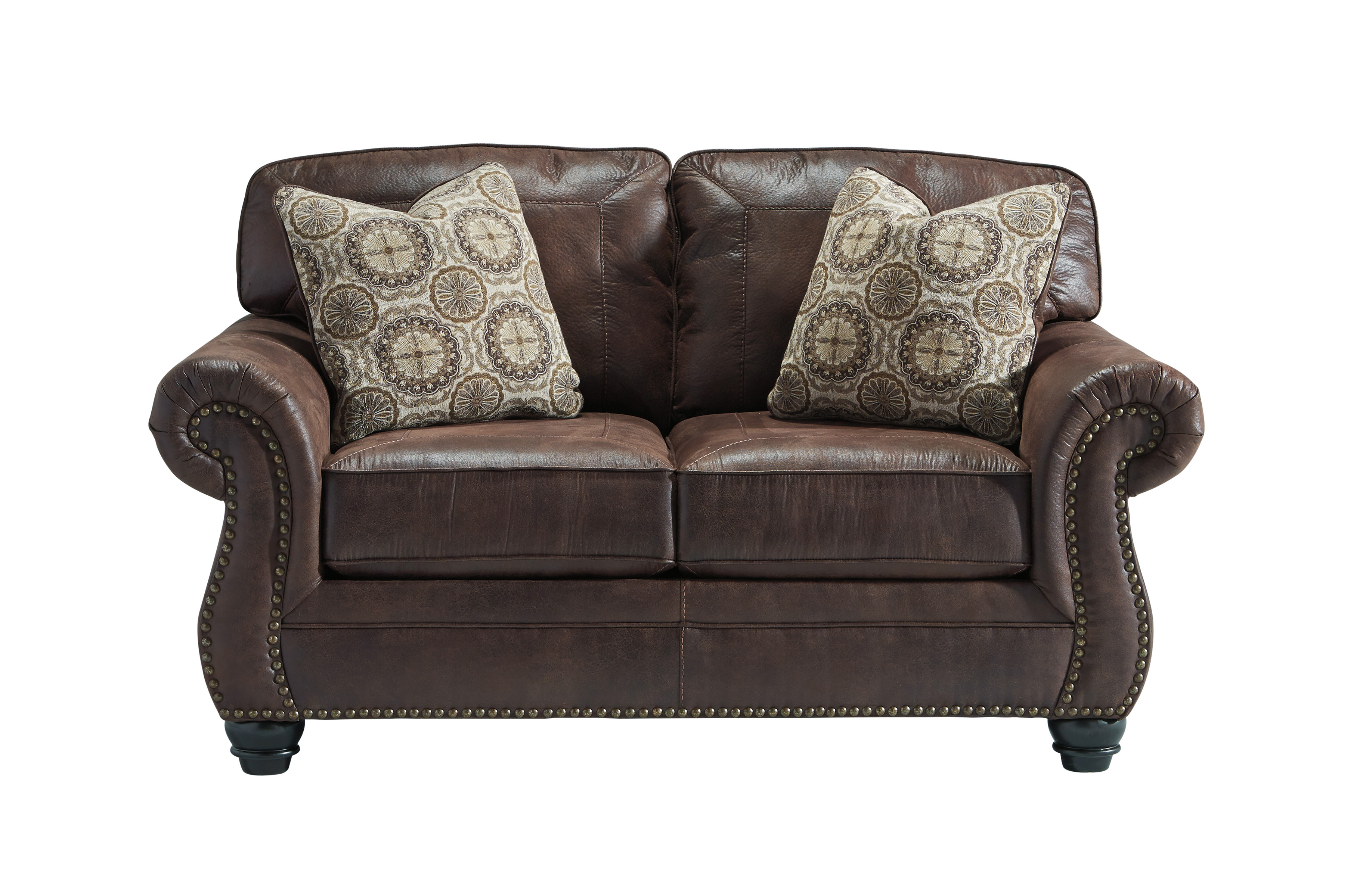 Benchcraft Breville Loveseat Espresso Harrington Home Furniture
