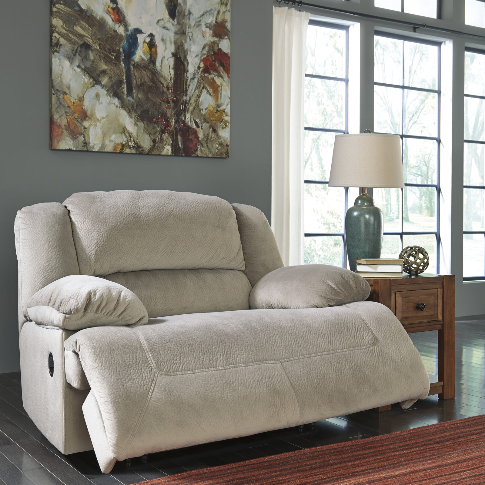 Signature Design Toletta Granite Wide Seat Recliner Harrington Home Furniture