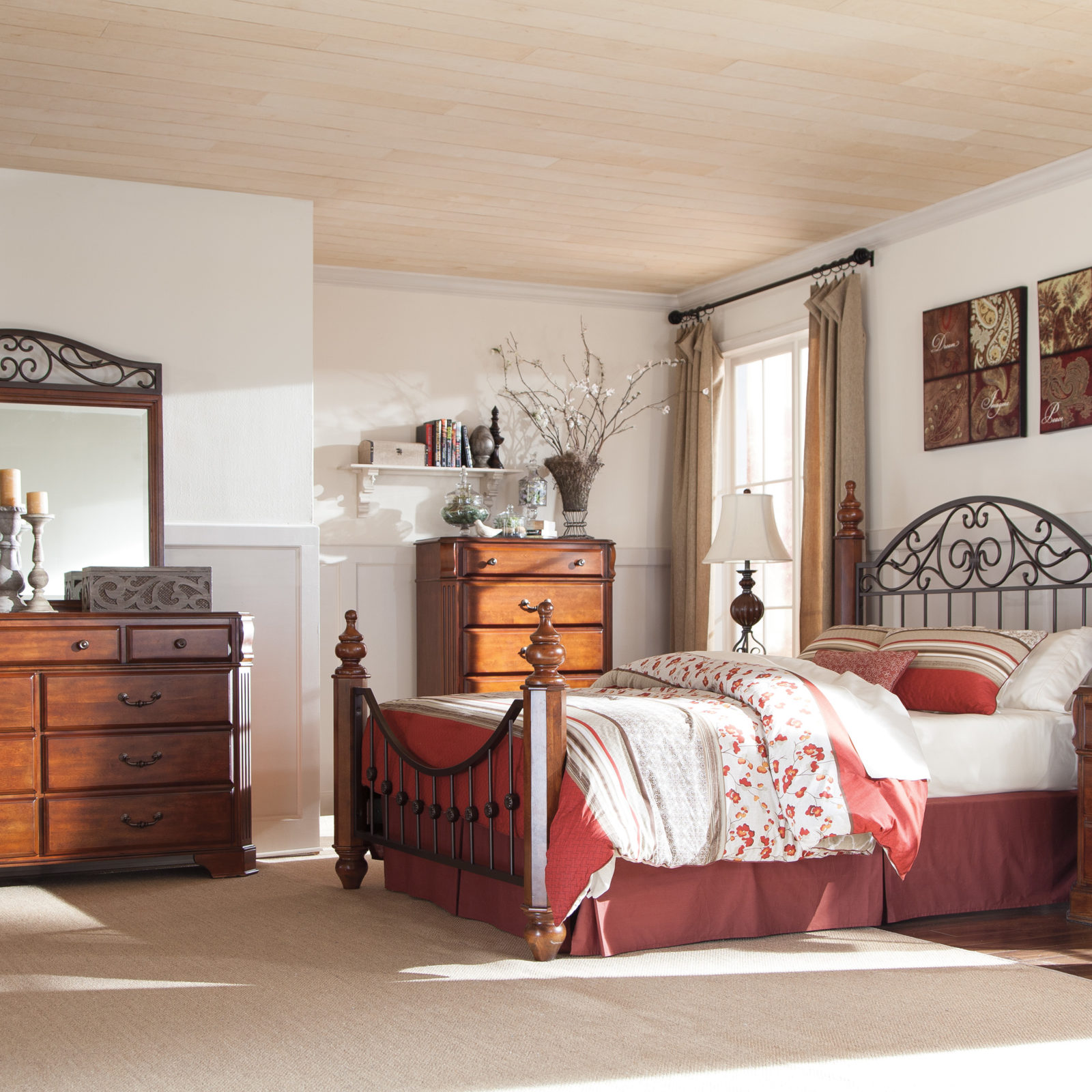 Signature Design Wyatt Queen Bedframe Harrington Home Furniture