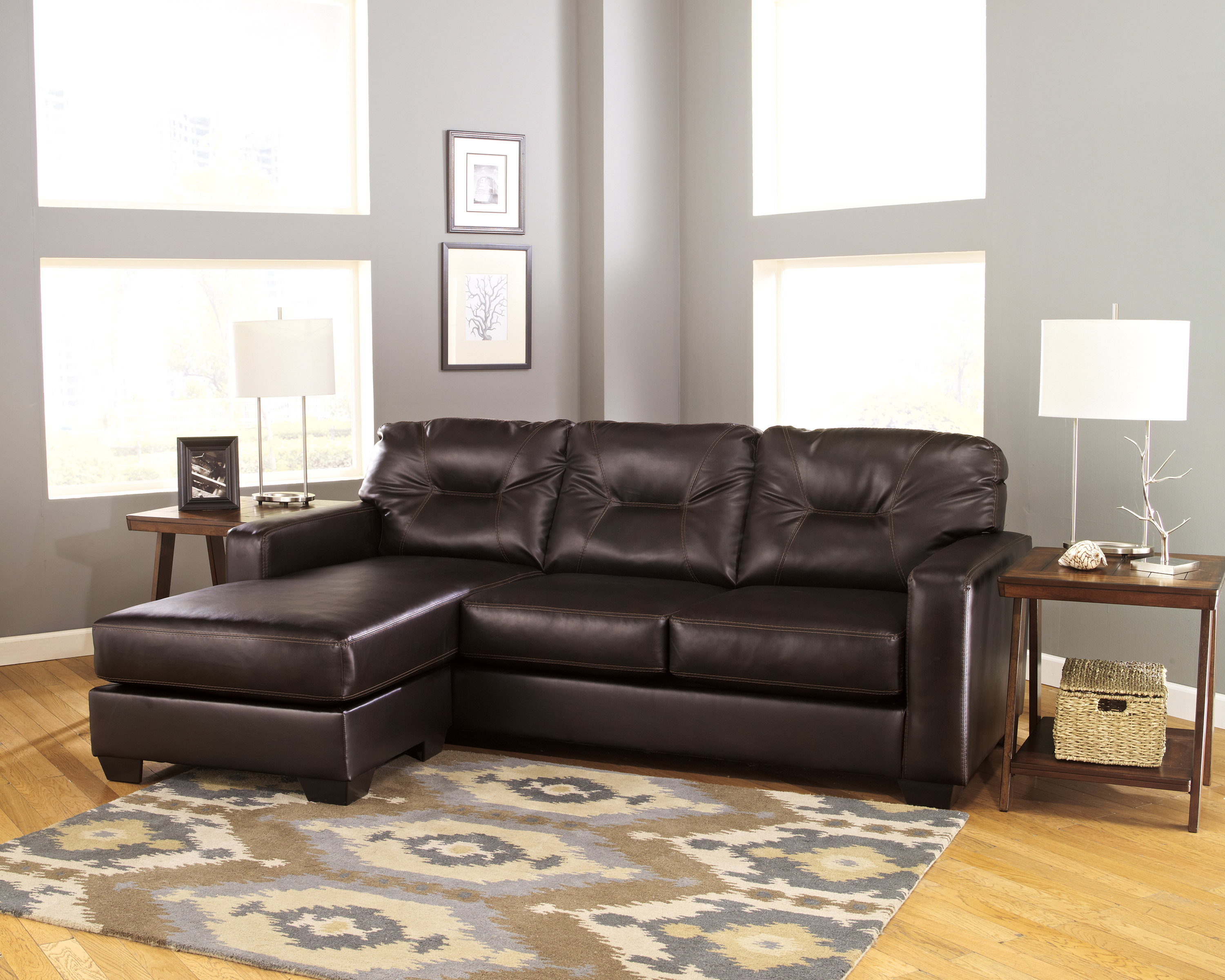 Signature Design Alluvia Sofa Chaise Harrington Home Furniture