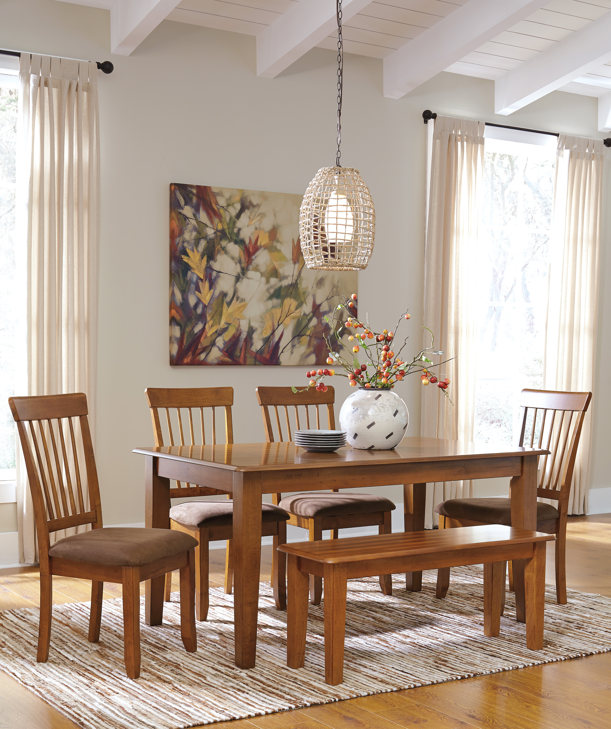 Ashley Berringer 6 Piece Dining Set Harrington Home Furniture