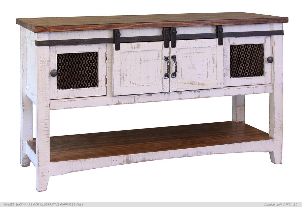 Ifd 360 pueblo white sofa table harrington home furniture for Furniture 360