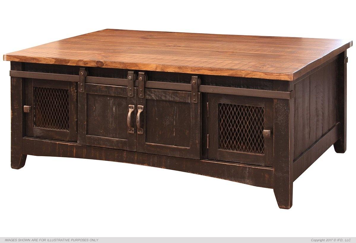 Ifd 370 Pueblo Black Coffee Table Harrington Home Furniture