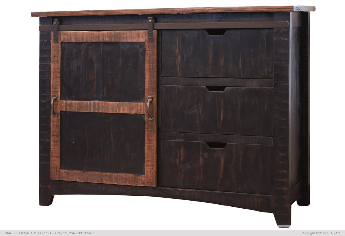 Ifd 371 Pueblo Black Accent Chest Harrington Home Furniture
