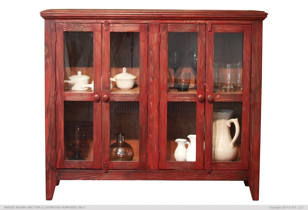 IFD 967 Antique Red Console Harrington Home Furniture