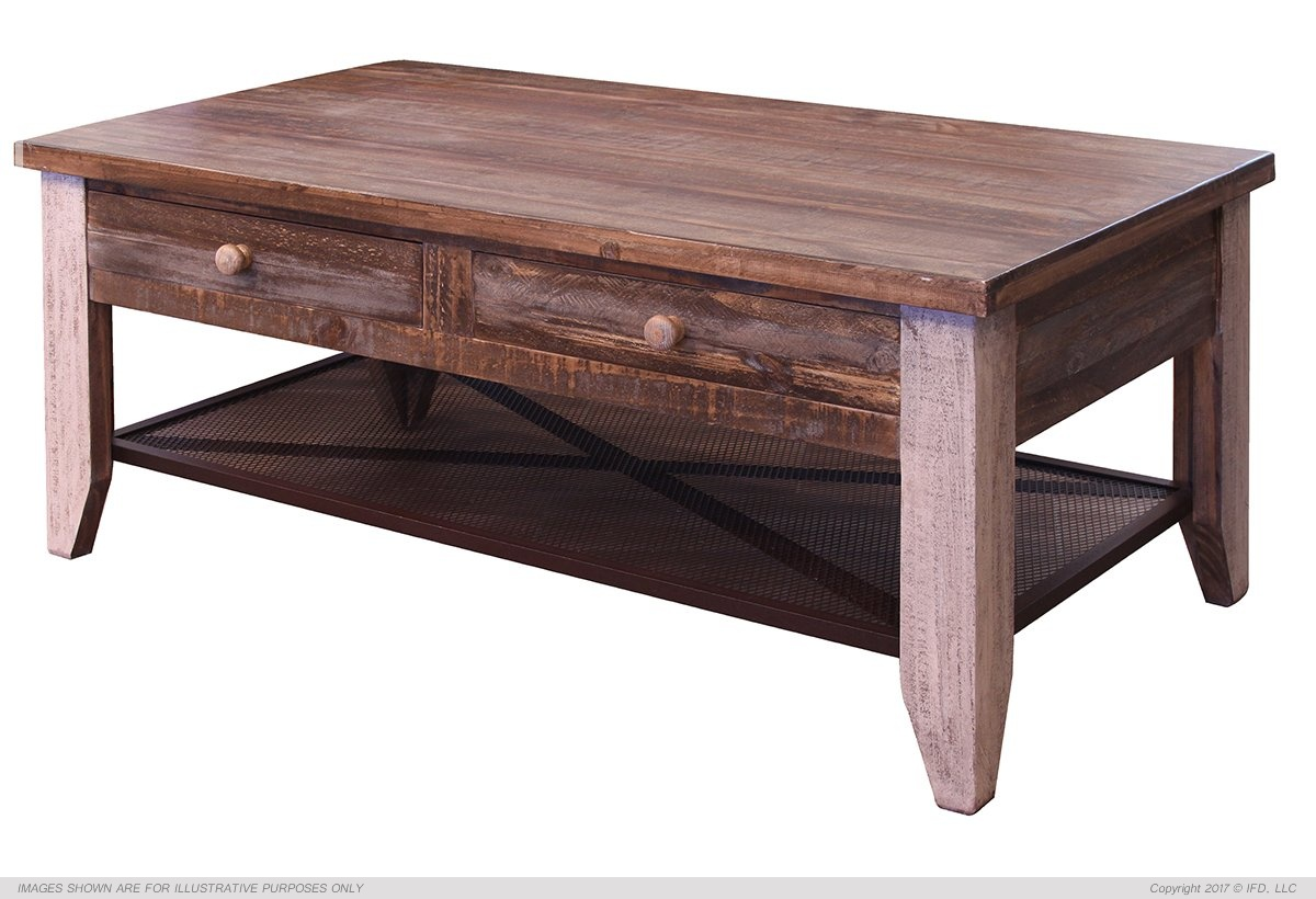 Ifd 963 antique coffee table harrington home furniture for Home furniture coffee tables