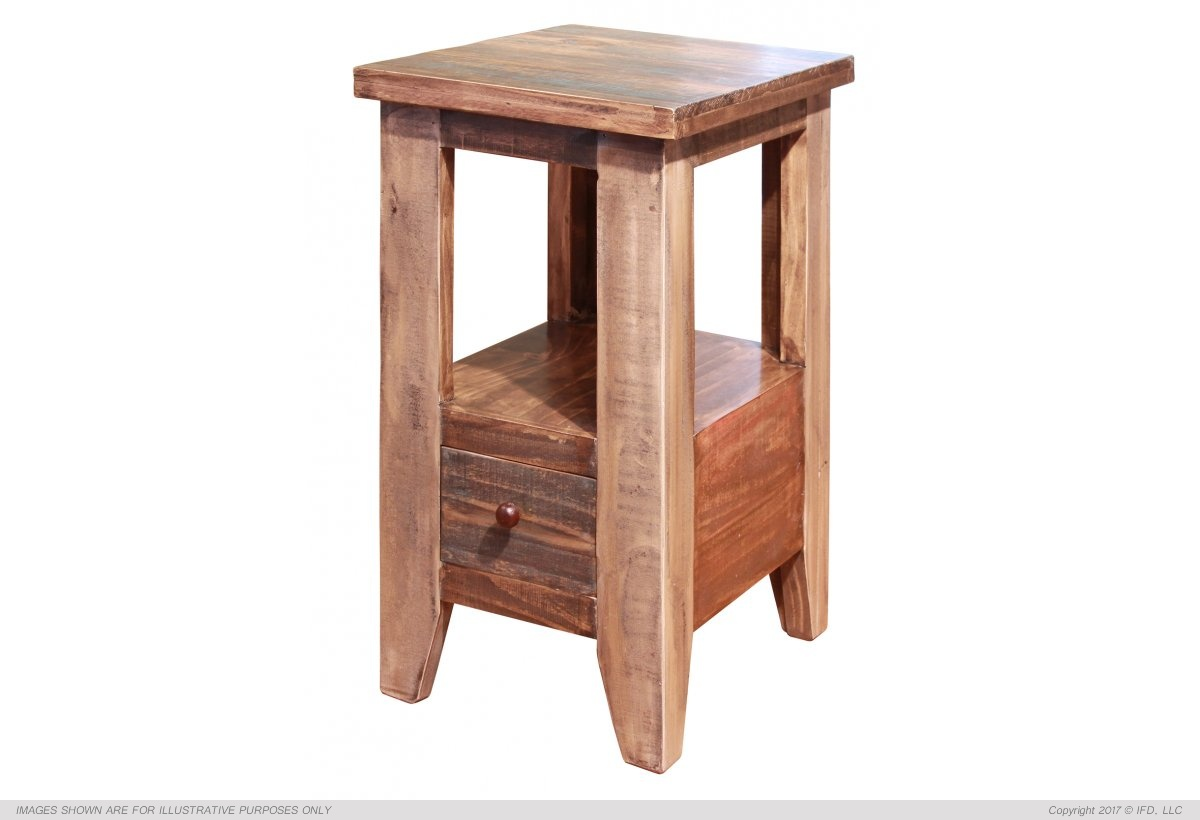 Ifd 965 Antique Chair Side End Table Harrington Home Furniture