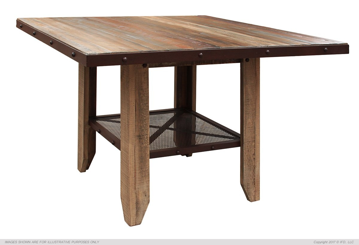 IFD 967 Antique Counter Height Dining Table Harrington