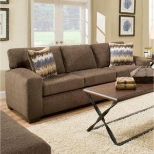 American Furniture Perth Chocolate Sofa