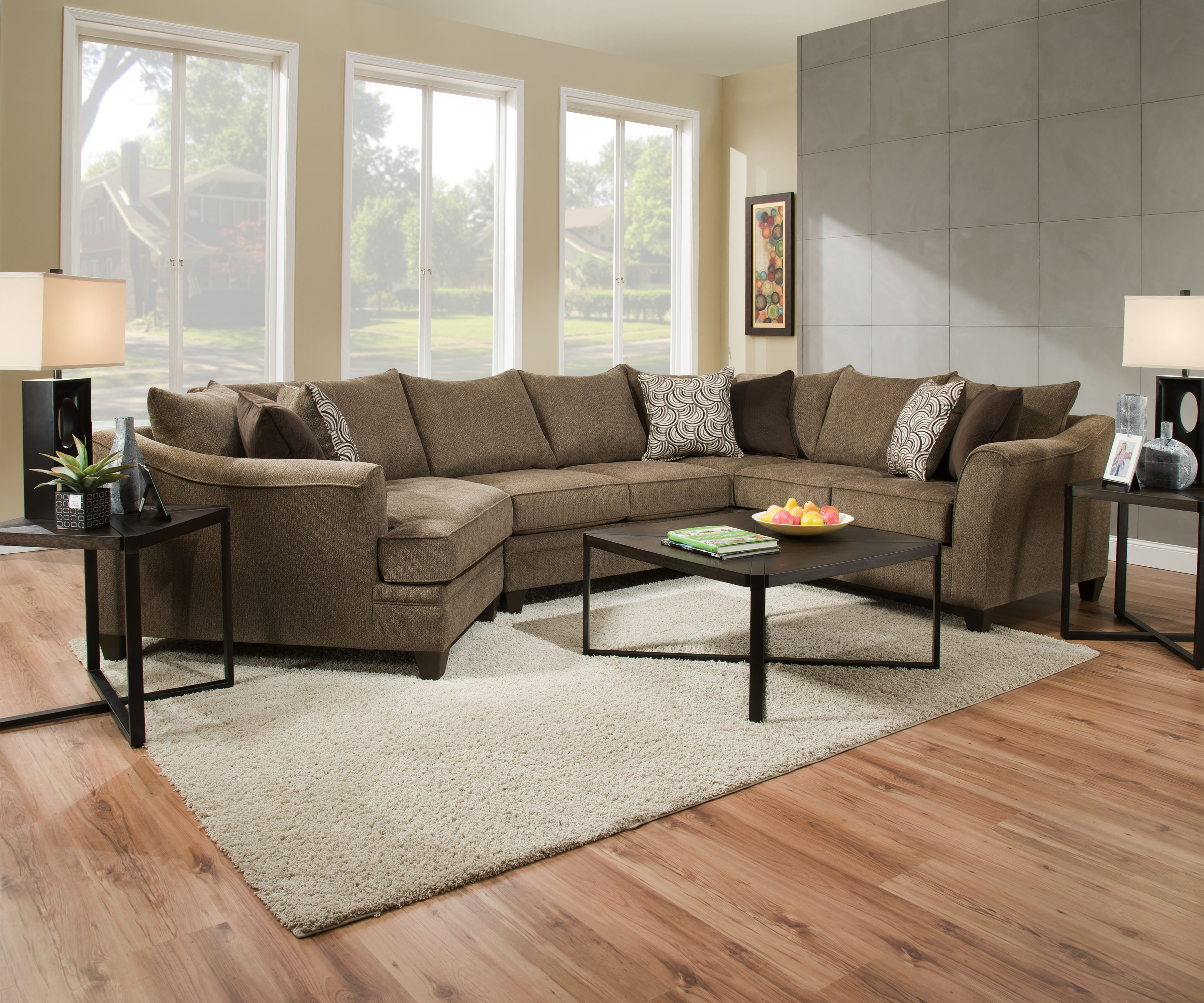 Sectional Sofa With Cuddler Chaise Cuddler Cream Sectional ...