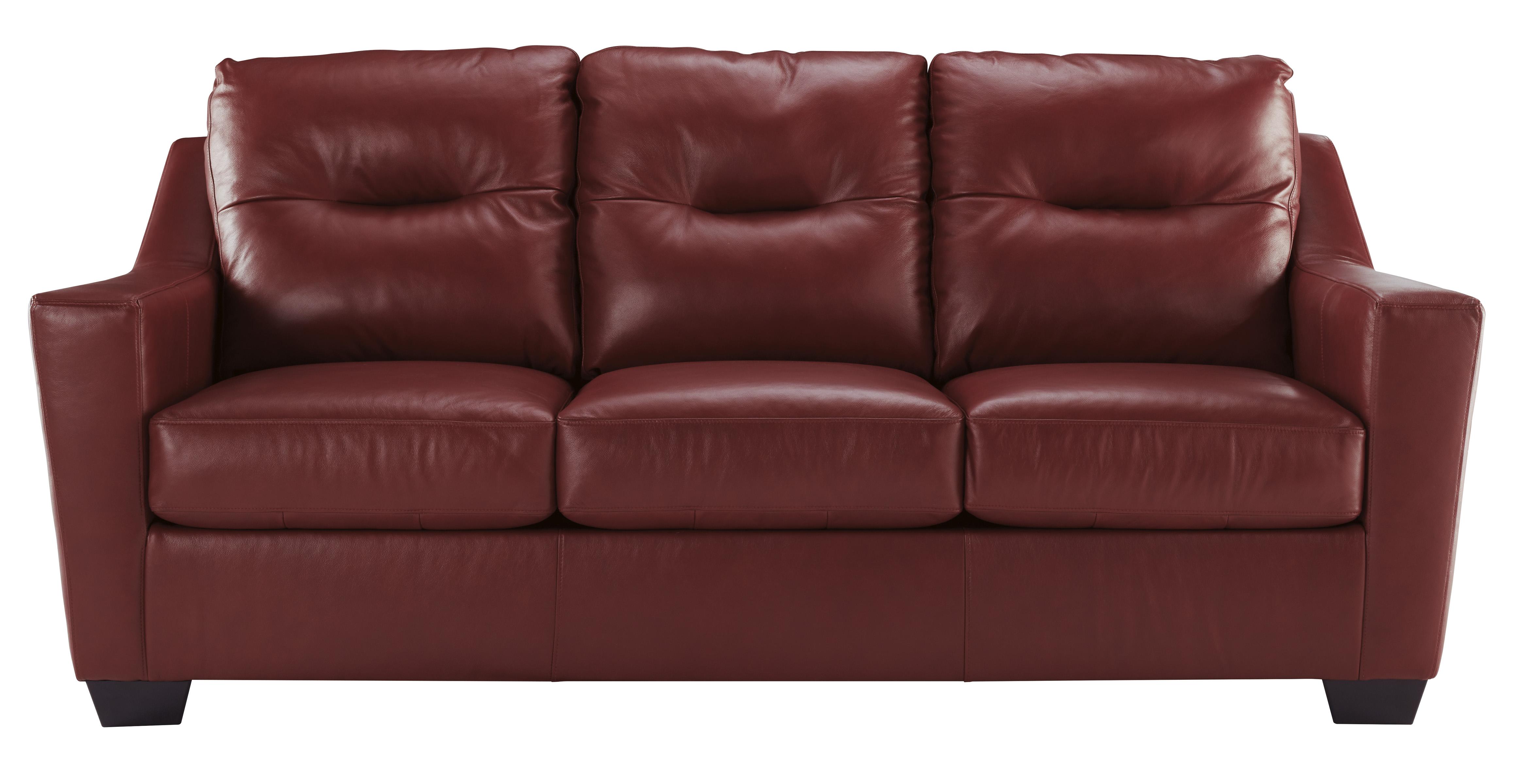 Ashley Kensbridge Red Leather Sofa