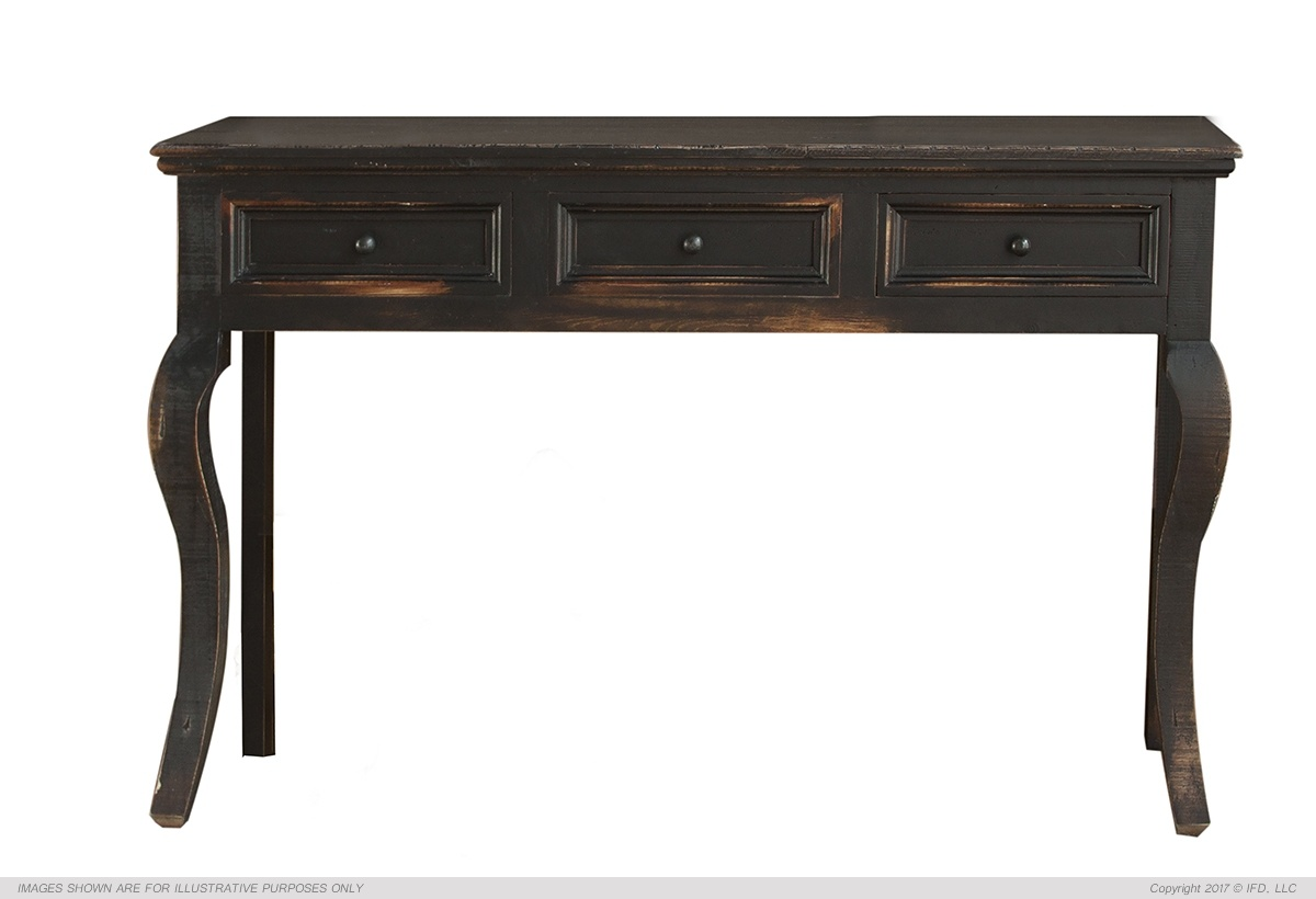 IFD Rivera Black Sofa Table